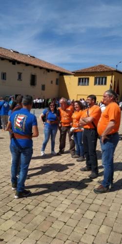 concentración de pendones en Villa de Guardo, Palencia (1)